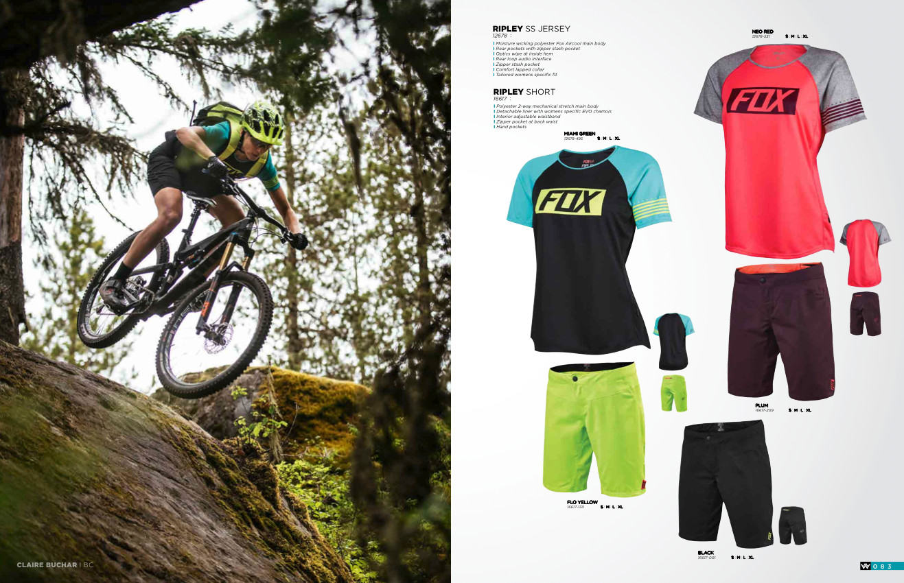 Katrina Strand and Claire Buchar rally some of epic pieces of trail in the  new Fox Spring 2016 Demo downhill women s gear. 23d87f174