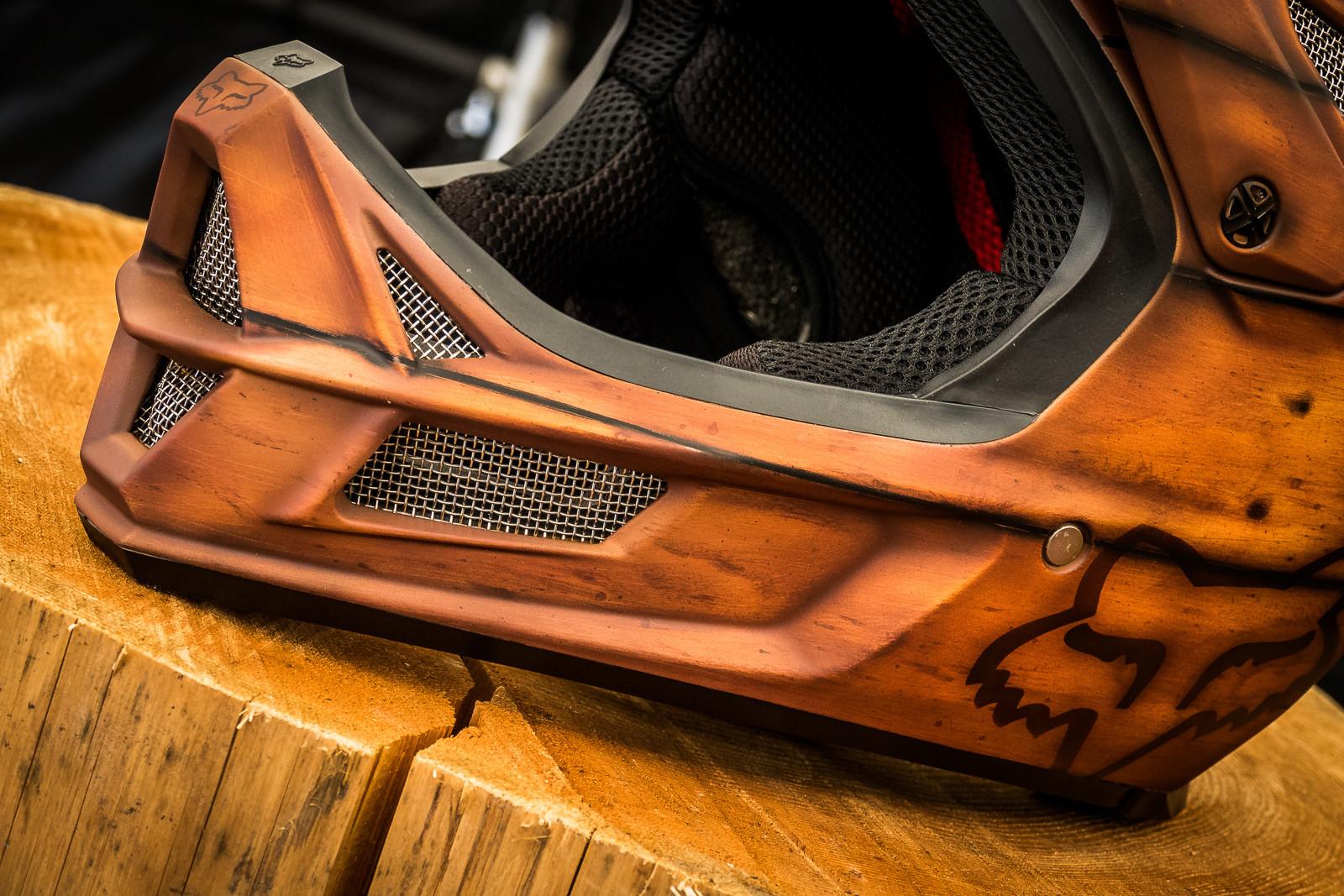 Custom Fox Racing Rampage Pro Carbon Helmet Pit Bits
