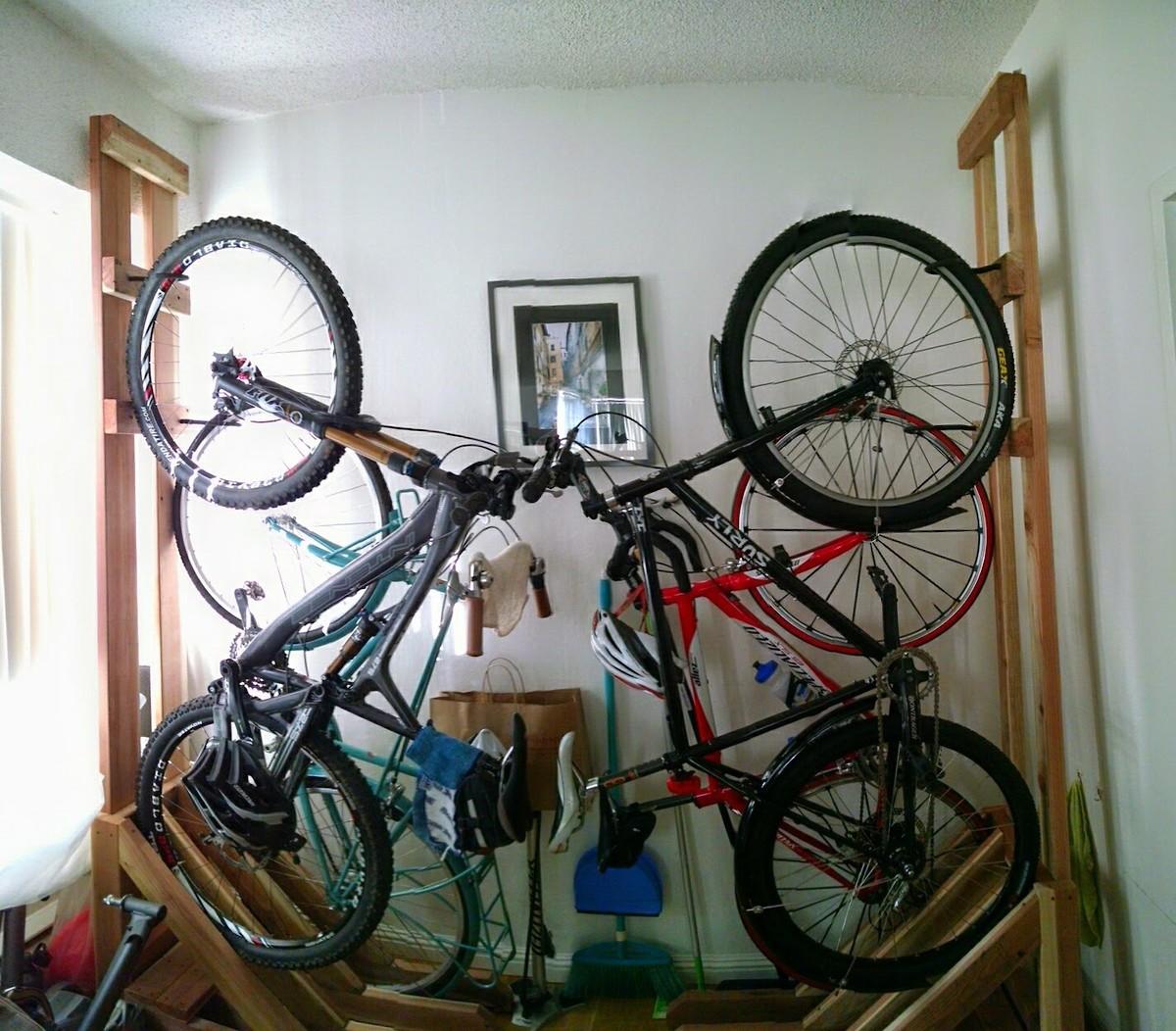 How Do You Guys Store Your Bikes The Hub Mountain Biking