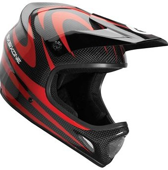 SixSixOne Evo Carbon Camber Full Face Helmet Red