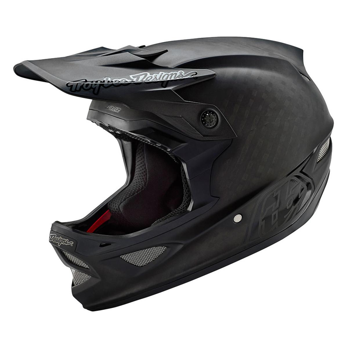 Troy Lee Designs D3 Carbon Full Face Helmet TLD D3 Carbon Helmet - Midnight Black