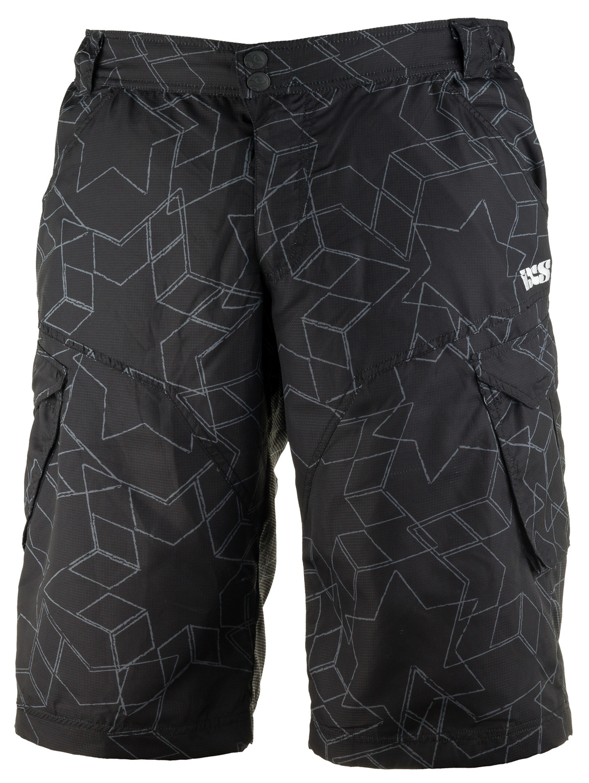 iXS Vial Riding Short vial black front