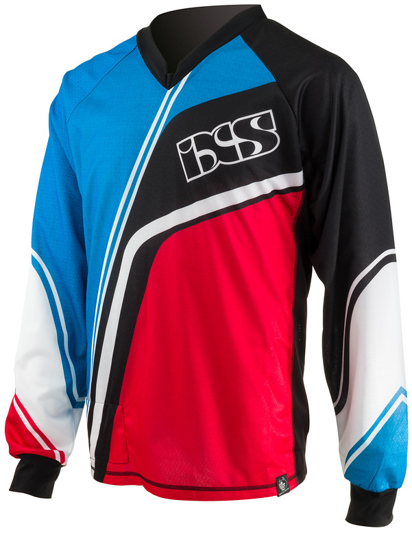 iXS Sgol Riding Jersey sgol red blue front