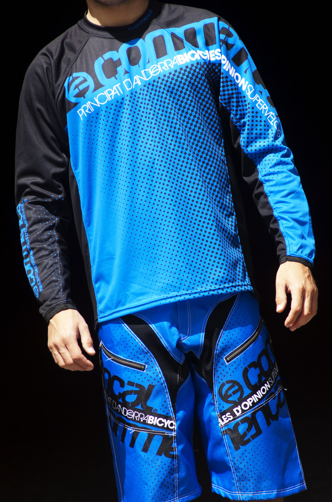 Commencal 2013 Jersey AM/DH Long Sleeve  Tsh_ML_blue