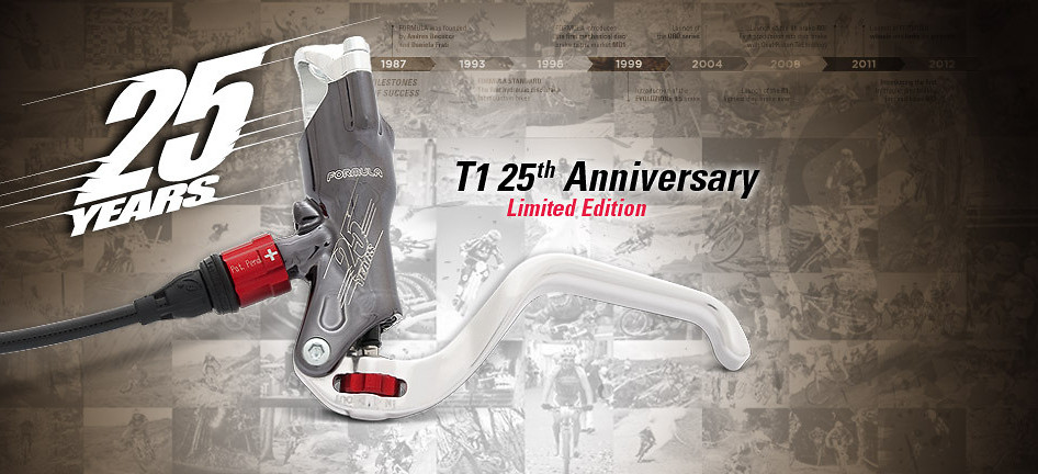 Formula 2013 T1 Limited Edition Disc Brake  25th Anniversary Closeup Brake w background