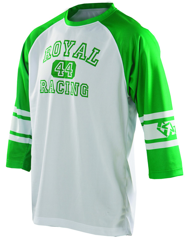 Royal 2014 Athletic Ride 3/4 Sleeve Jersey athletic white green f