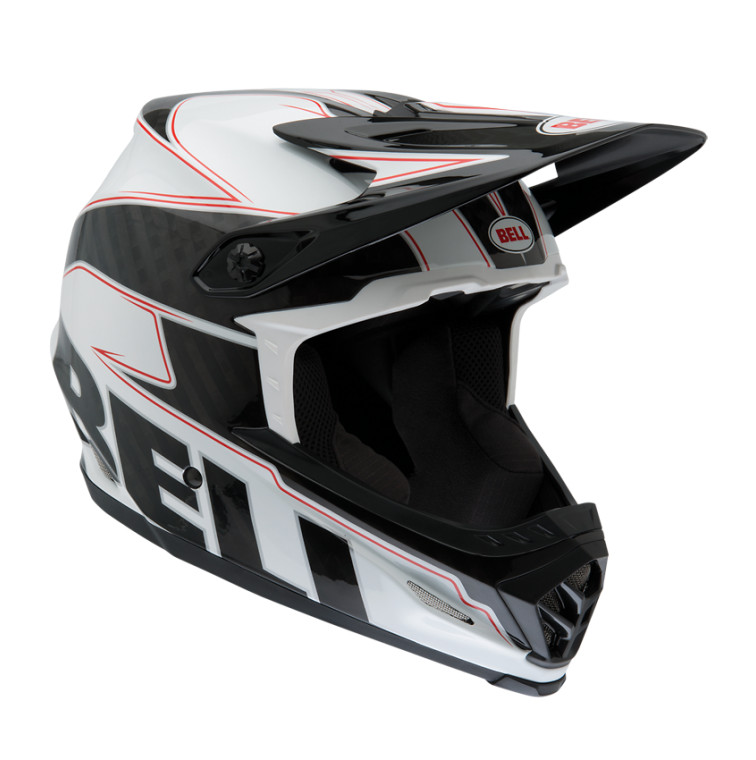 Bell Full-9 Helmet White Black Carbon Emblem