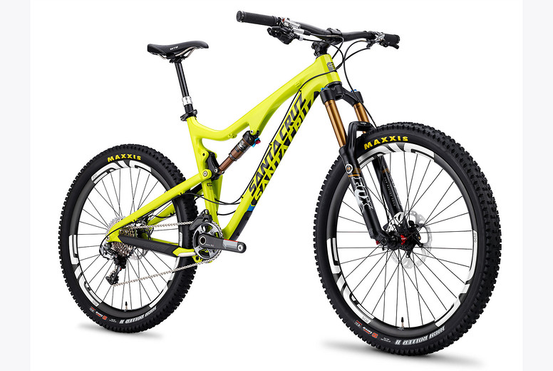 2014 Santa Cruz Bronson Carbon with XX1AM27ENVE Build  yellow-solid-white