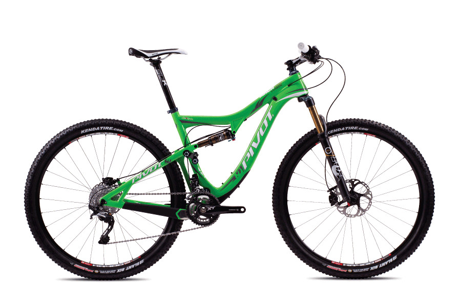 2013 Pivot Mach 429 Carbon with XT/XTR Pro  Pivot Mach Carbon 429 with Shimano XT:XTR Pro (Team Green)