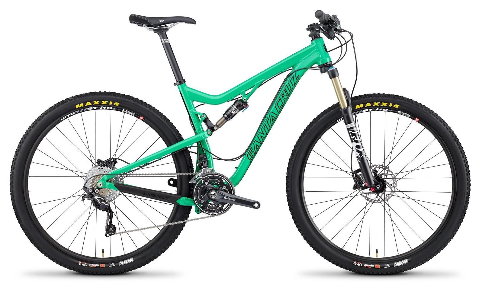 2014 Santa Cruz Tallboy 2 X0-1 XC 29 Bike TallBoy_profile_Alum_GRN