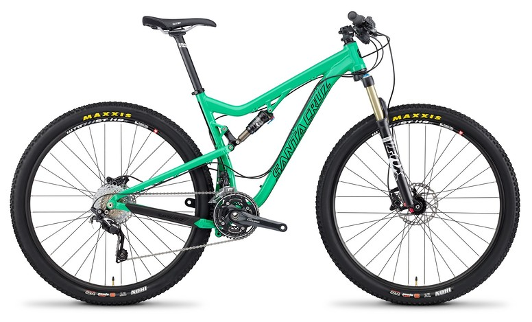2014 Santa Cruz Tallboy 2 XX1 XC 29 Bike TallBoy_profile_Alum_GRN