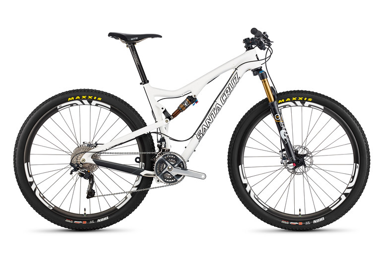 2014 Santa Cruz Tallboy Carbon 2 R XC 29 Bike TallBoy_profile_Carbon_WHT