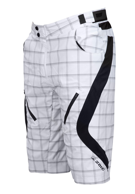 Zoic Antidote Riding Shorts Zoic Antidote Plaid Shorts - White Square
