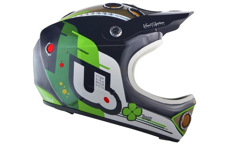 Urge 2014 Veggie Down-O-Matic Full Face Helmet D-O-M Veggie blkgrn Vital