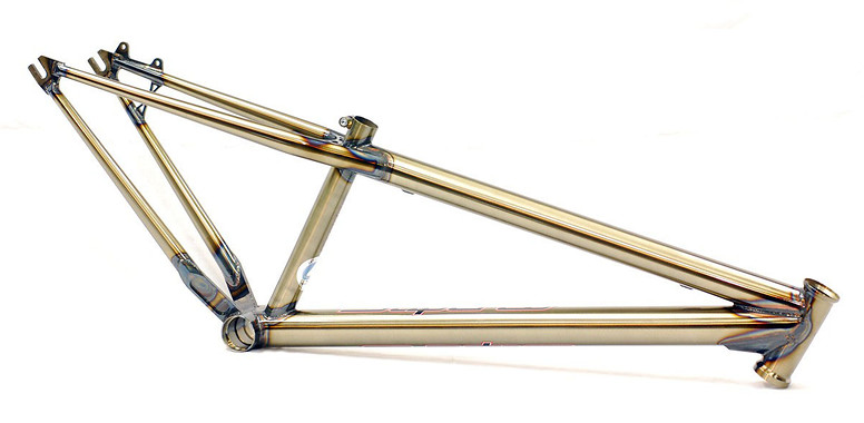 Superco Charger Hardtail Frame Raw with Clear