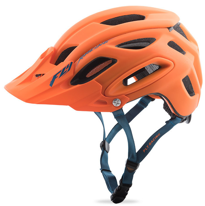 Fly Racing Freestone Helmet Matte Orange/Blue