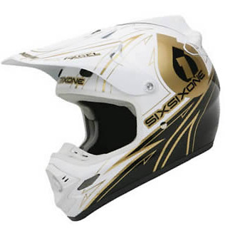 SixSixOne Flight II Full Face Helmet Flight_Legend_White