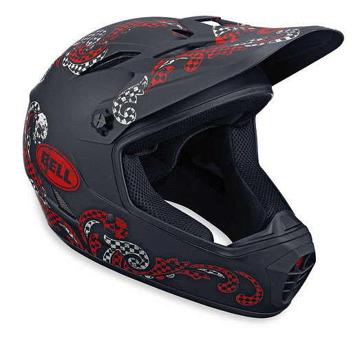 Bell Drop Full Face Helmet Drop Matte Black/Red Brandana