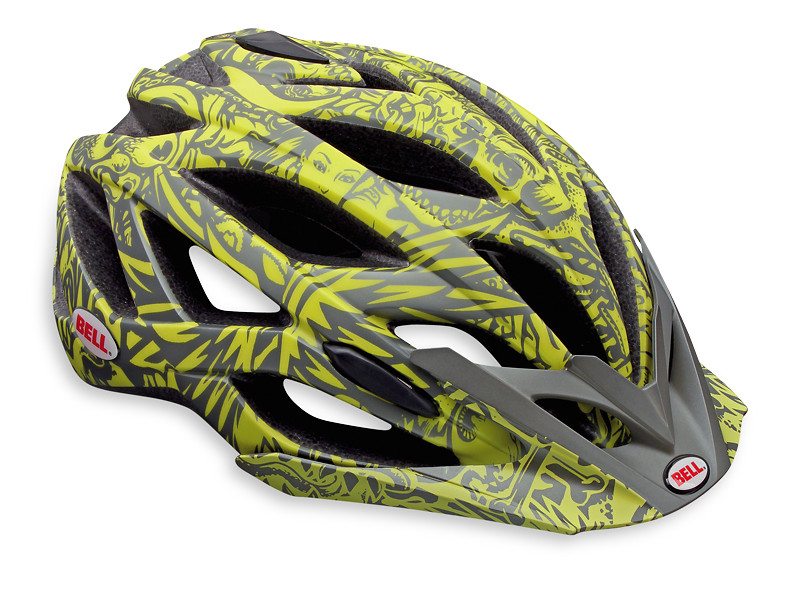 Bell Sequence Open Face Helmet Sequence Matte Gray/Neon Green Jimbo Phillips Wallpaper