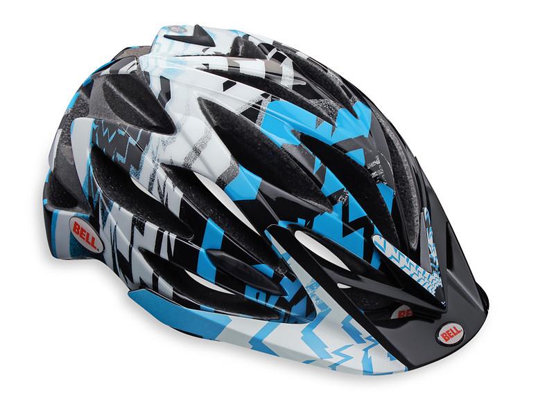Bell Variant Open Face Helmet Variant Black/Cyan Blue Shattered
