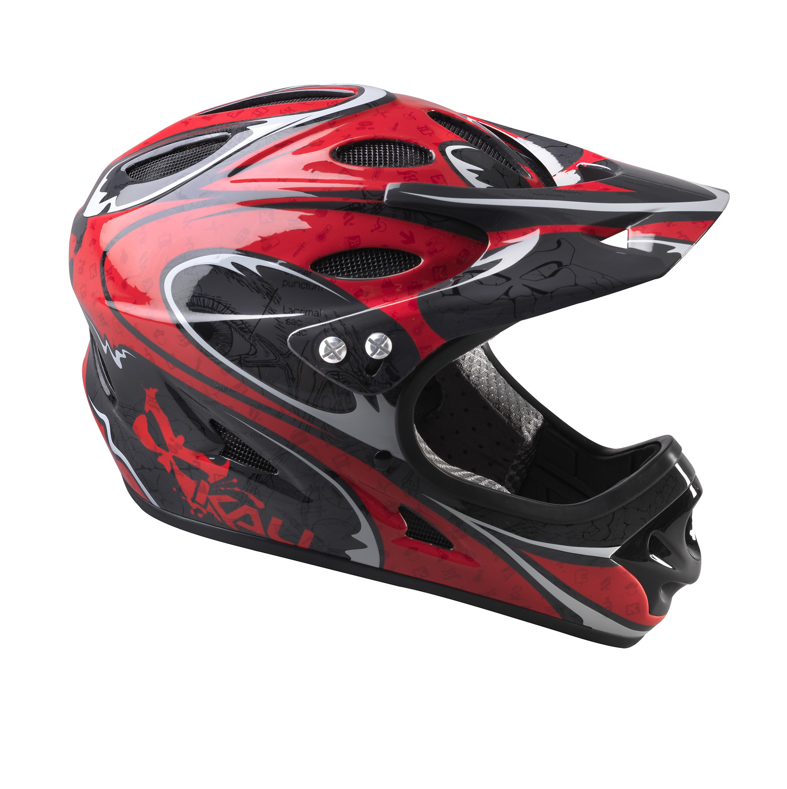 Kali Protectives Durgana Full Face Helmet blackintegdurganright