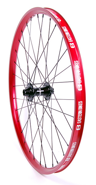 Eastern Nightrain Front Complete Wheel Wheel Nightrain Front Matte Red Angled LoRes