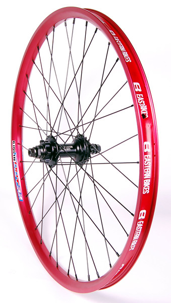 Eastern Nightrain Rear Complete Wheel Wheel Nightrain Rear Matte Red Angled LoRes