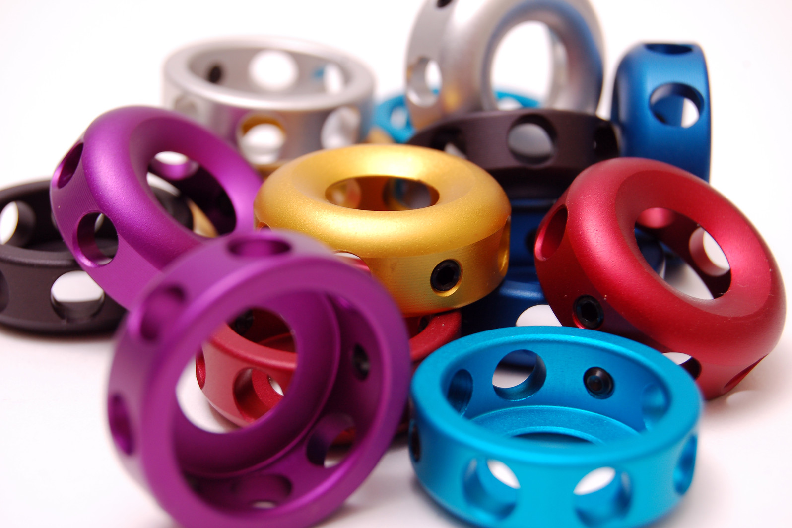 Eastern Alloy Bar End Bar Ends Alloy Matte Grouped Close Up