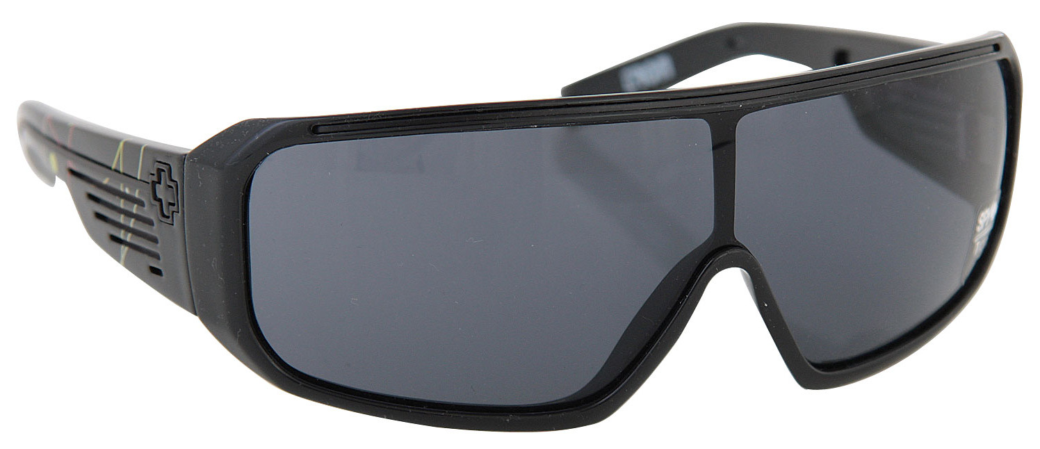 Spy Optic Spy Tron Sunglasses Black W/Clrfl Strps Tmpl/Grey Lens  spy-tron-bkclrfltmpgy-08.jpg