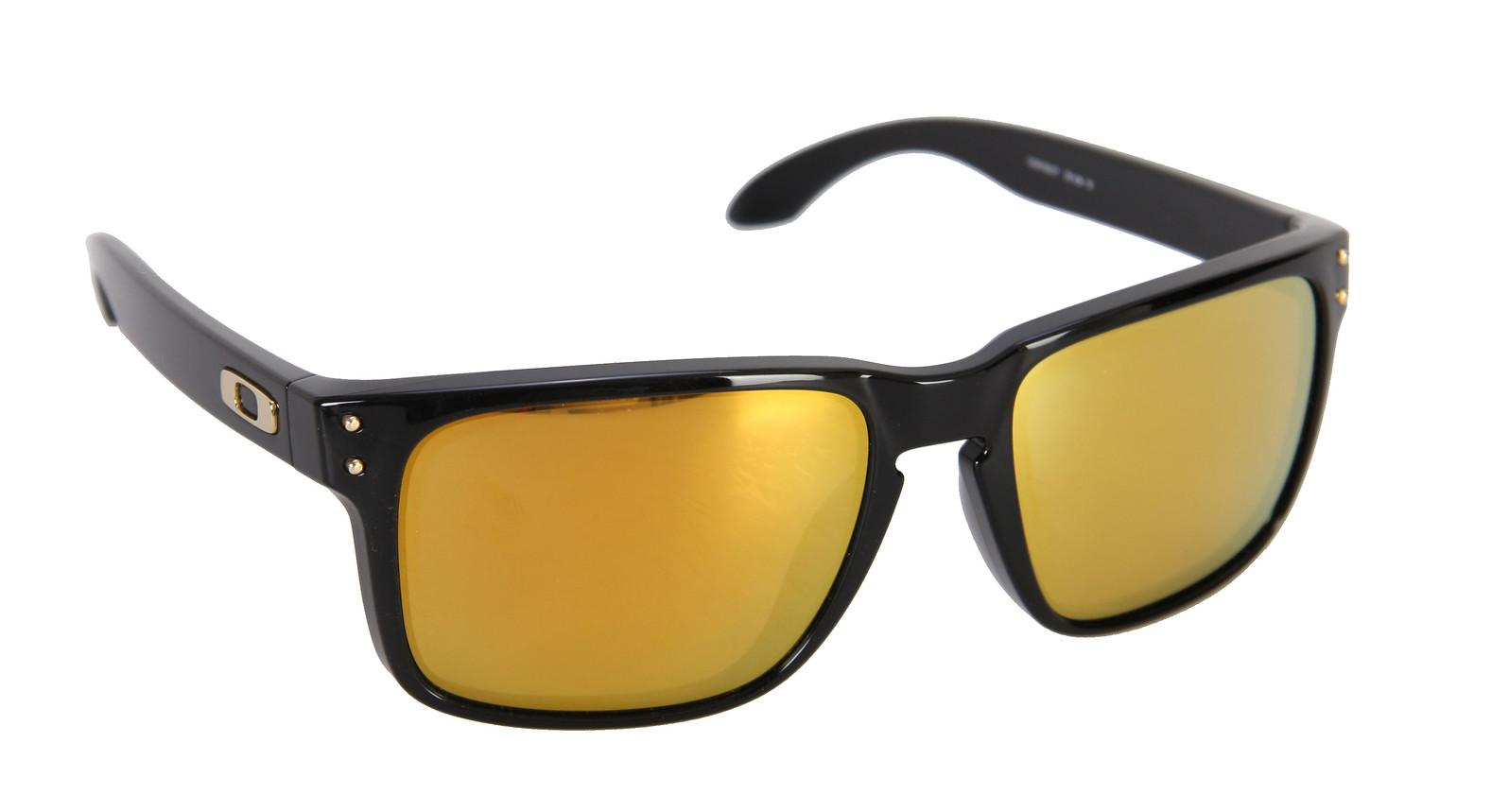 Oakley Holbrook Sunglasses Polished Black/24K Gold Irid Lens  oakley-holbrook-sngls-plshedblk24kgoldirid-10.jpg