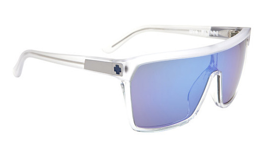 Spy Optic Spy Flynn Sunglasses Matte Shiny Clear/Grey Green/Blue Spectra Lens  spy-flynn-sngls-mttshnyclear-grygrnbluspec-11.jpg