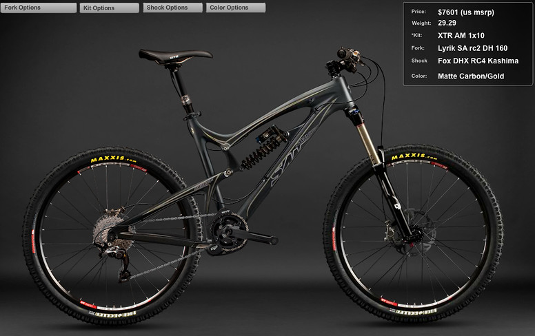 2012 Santa Cruz Nomad Carbon XTR am 1x10 Bike Screen shot 2011-12-07 at 9.06.44 PM