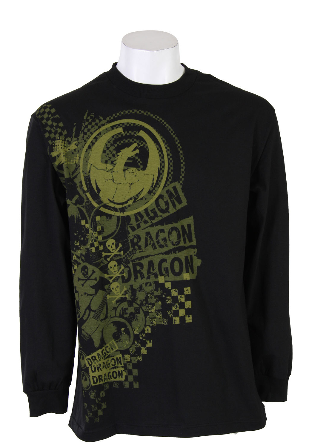Dragon Mad Print L/S T-Shirt Shirt Black  dragon-madprint-ls-blk-10.jpg