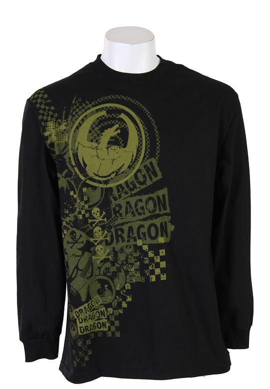 Dragon Mad Print L/S T-Shirt Shirt Black  dragon-madprint-ls-blk-10.jpg