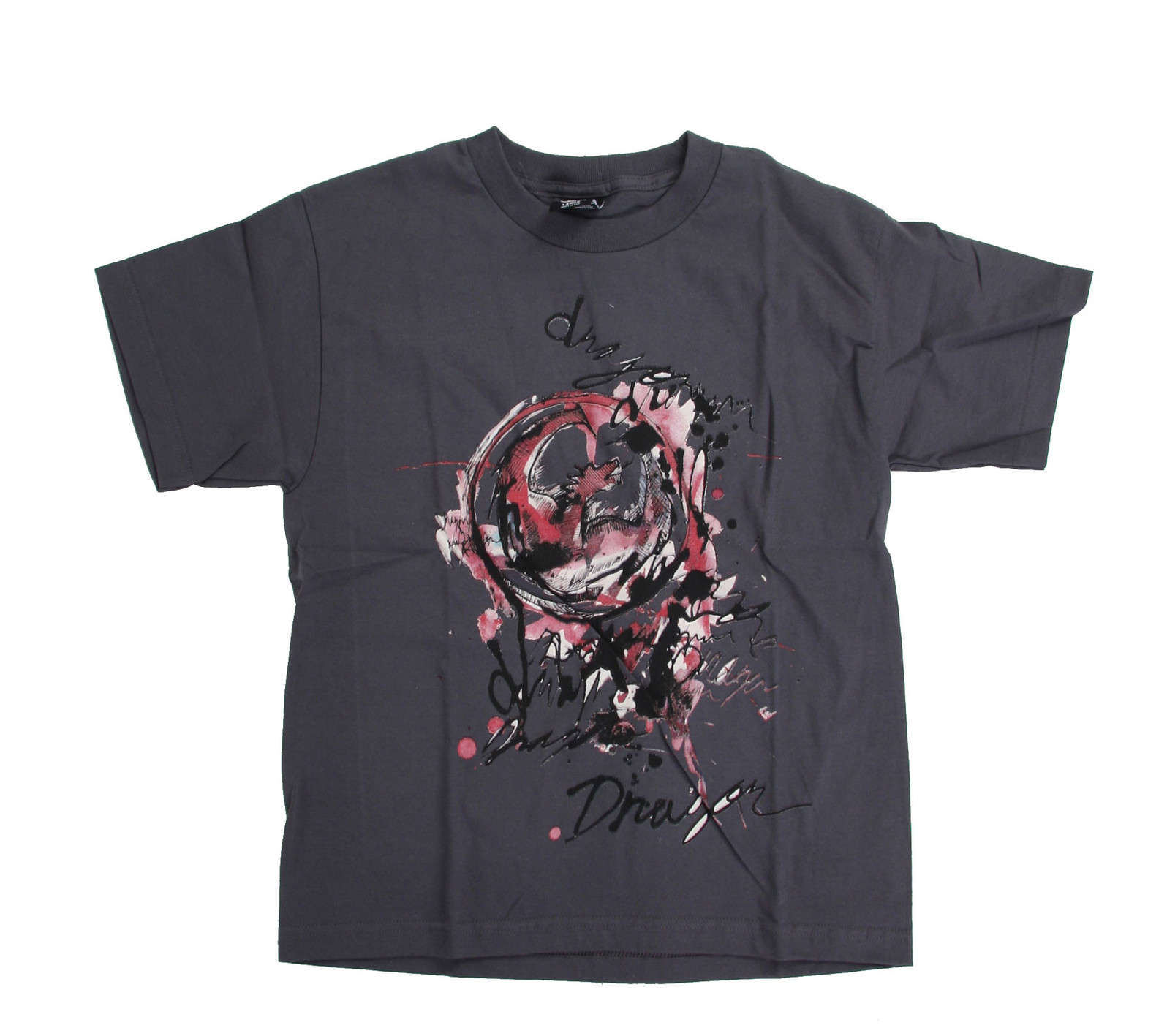 Dragon Washed Out T-Shirt Charcoal  dragon-washedout-t-yth-chrcl-10.jpg