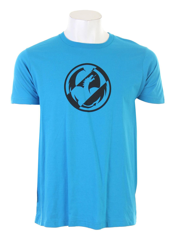 Dragon Mono Tone Slim T-Shirt Turquoise  dragon-monotone-t-turq-10.jpg