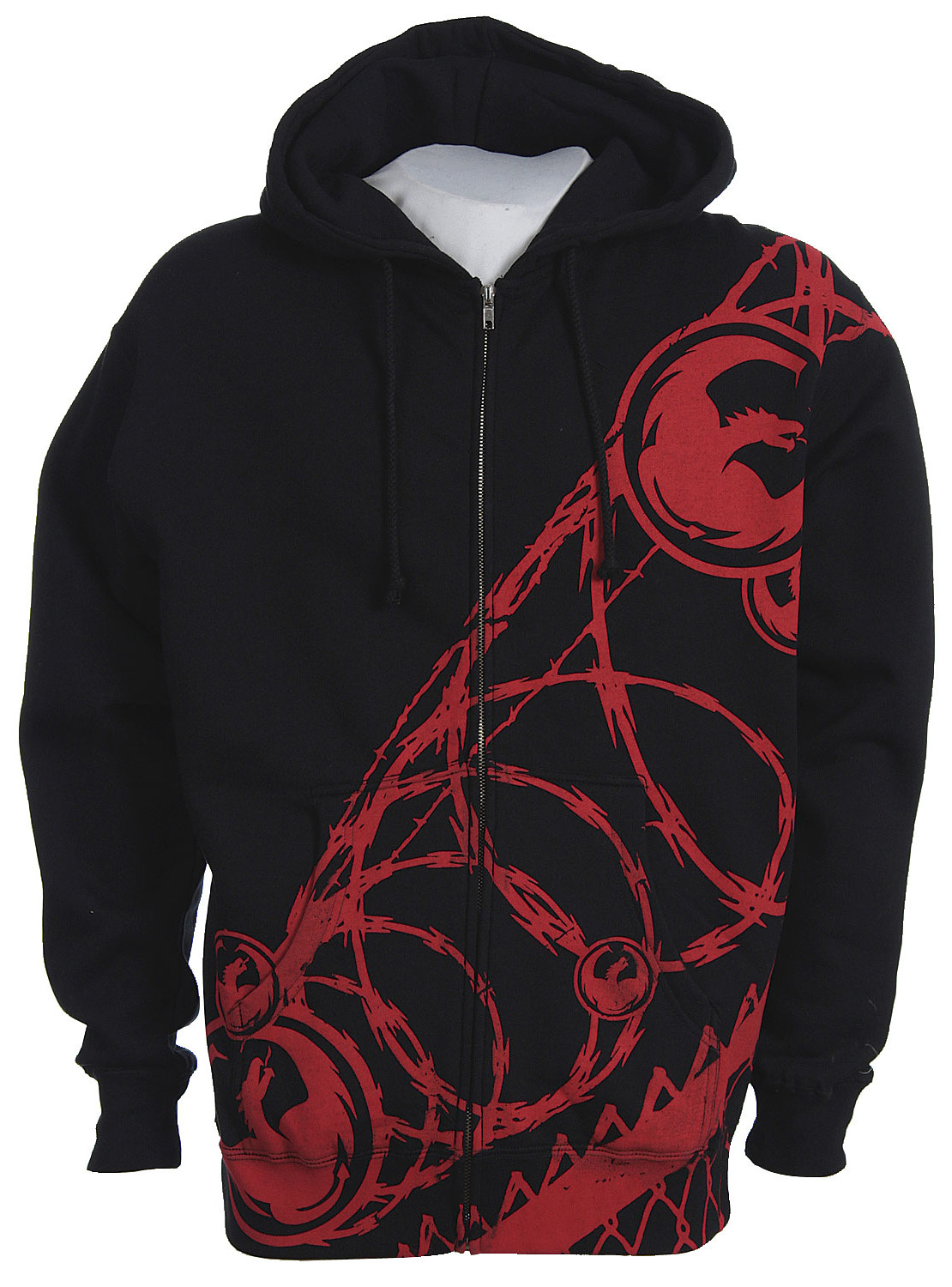 Dragon The Joint Zip Hoodie Black  dra-the-joint-zhd-bk-08.jpg