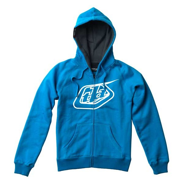 Troy Lee Designs Womens Logo Fleece Zip-Up  2009_FW_WFLEECE_LOGO_BLUE