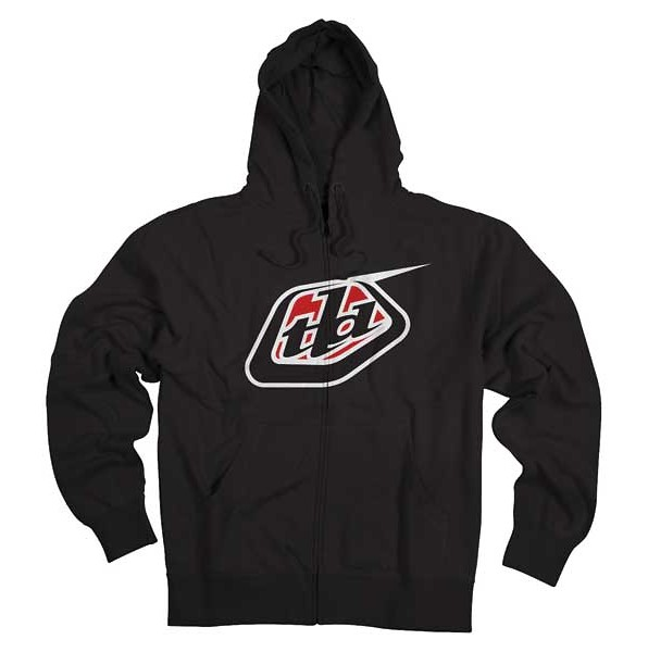 Troy Lee Designs Classic Logo Zip-Up Fleece  12TLD_FALL_CORE_FLEECE_CLASSICLOGO_BLK