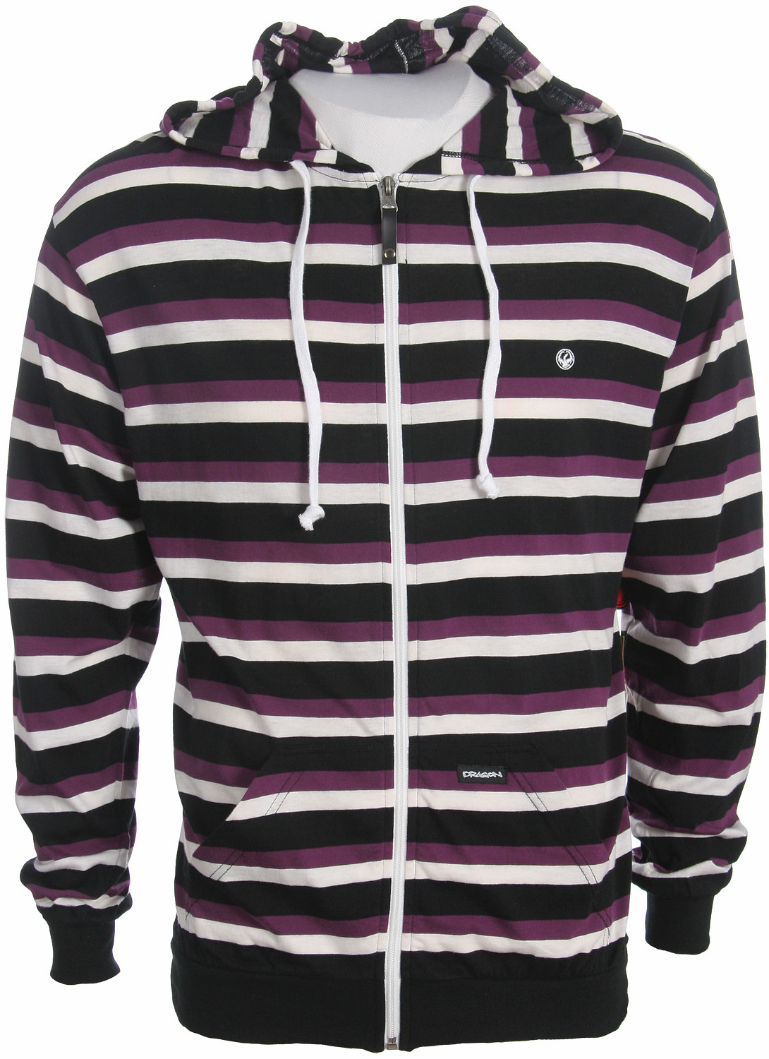 Dragon Axiom Stripe Knit Zip Hoodie Black  drag-axiom-stripe-hd-08.jpg
