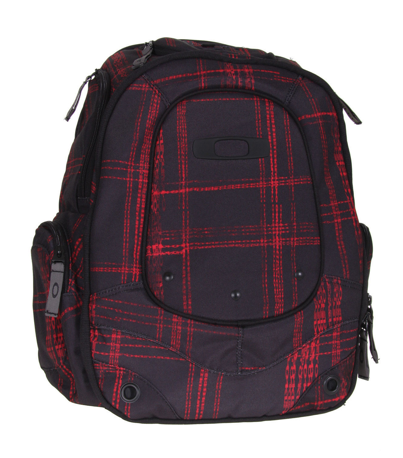 Oakley Stretch Plaid Backpack Black/Red  oakley-stretch-plaid-pack-blkred-09.jpg