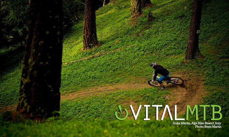 Anka Martin, Alpi Bike Park, Italy by Sven Martin
