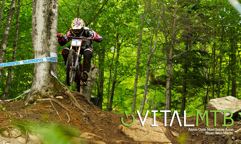 Aaron Gwin, Mont Sainte Anne by Sven Martin