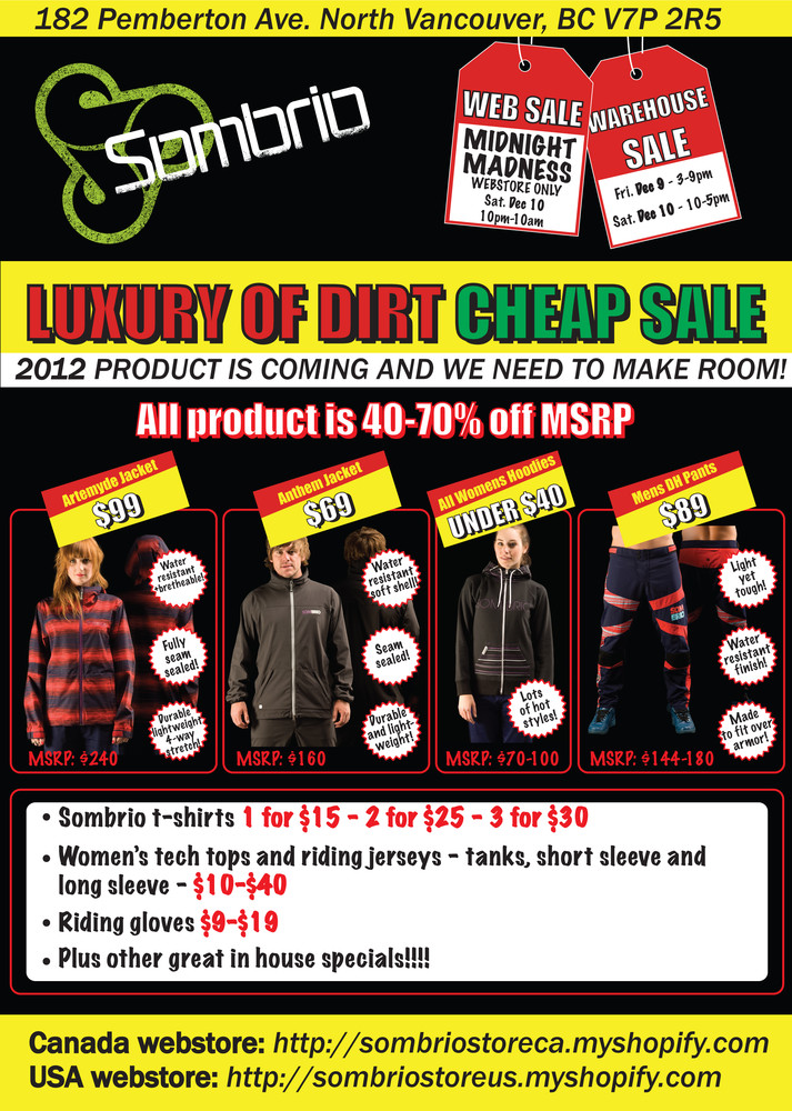 Sombrio Luxury of Dirt Cheap Sale