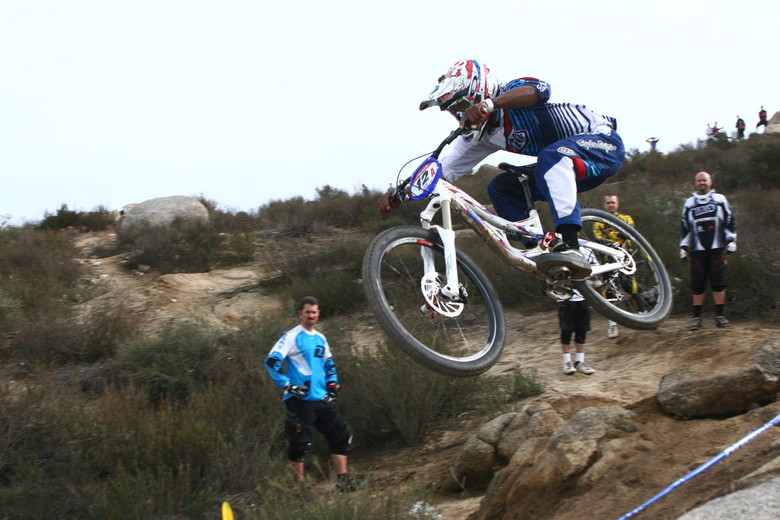 Cody Johnson getting aero. Yeah buddy! - Photo by Blue Fire