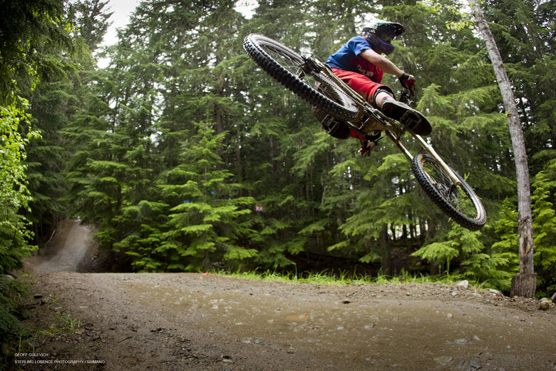 Just a typical day at Whistler for Geoff Gulevich.