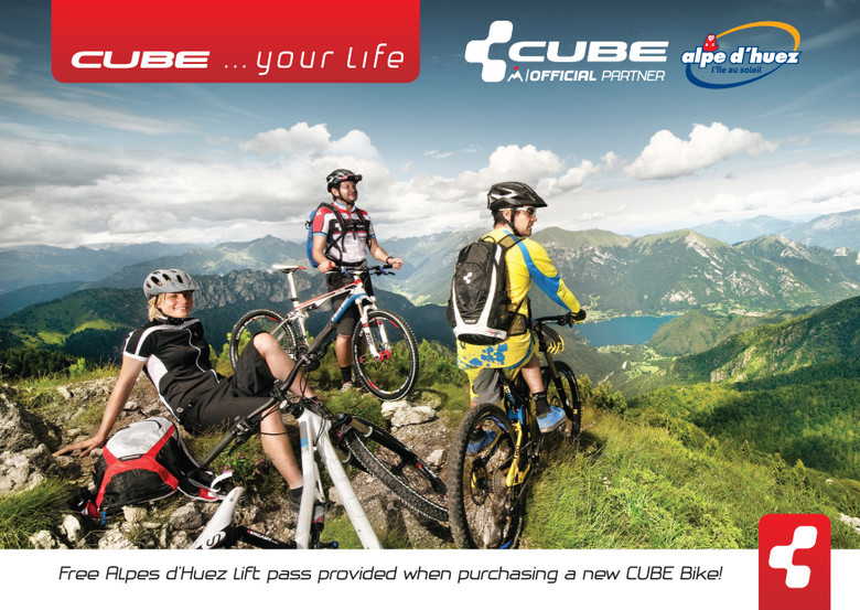 CUBE Official Partner Alpe d'Huez l'île soleil, French Alpes
