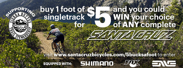 Five Bucks a Foot Campaign, Win a Santa Cruz Bike