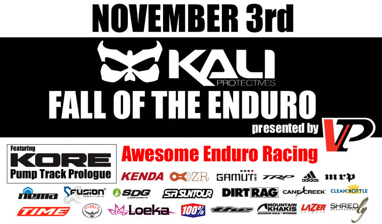 Kali Protectives Fall of the Enduro Presented by VP Components, November 3rd