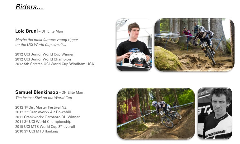 2013 Lapierre International Downhill Team Announced